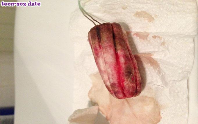 Girls ficken mit blutiger Muschi Periodensex Fetisch